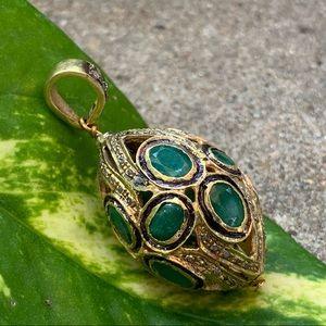 Emerald & Diamond Pendant